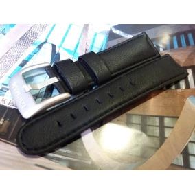 Pulseira Couro P/ Relógios Locman - 22mm - Preta - Original