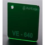 Placa De Acrilico Verde 100cm X 200cm Esp 3mm Chapa Acrilico