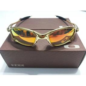 Armaçao Oculos Dourada Po Gep De Sol Outras Marcas Oakley - Óculos ... b9134ec195