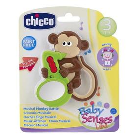 Chocalho Chicco Macaco Estimula A Sensibilidade Musical