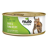 Nulo Grain Free Canned Wet Cat Food (duck & Tuna, 5.5 Oz, C