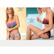 Bikini Bandeau Con Flecos Marcela Koury. Verano 2017
