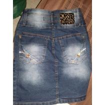 Saia Jeans Cintura Alta Lançamento