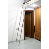 Escada Em Aço Inox Para Estante E Biblioteca 2 Mts X 60 Cmt