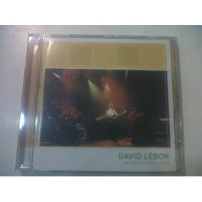 En Vivo, En El Teatro Coliseo, David Lebón - Cd 1999 Nuevo