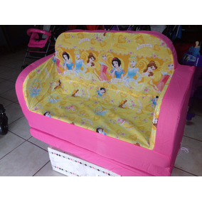 Sofa Cama Para Dos Niños De Princesas