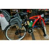Bicicleta Playera Unisex Con Soporte Para Nino