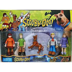 Kit Com 05 Bonecos Articulados Scooby Doo Salcicha