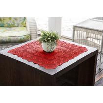 Toalha Quadrada Color Vermelha 75cmx75cm 100% Poliester - In