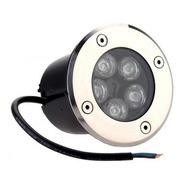 Kit 5 Balizador Luminária Led Chão Piso Jardim 5w Embutir