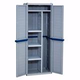 armario plastico exterior gabinete deposito escobero estante