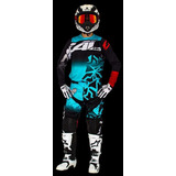 Equipo Conjunto Motocross Atv Radikal Onix Verde Talle 46-48