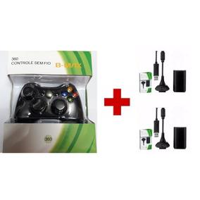 Controle Xbox 360 Sem Fio + 2 Baterias Carregador 28.000 Mah
