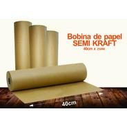 Papel Semi Kraft Pardo Rolo Bobina 40cm 6,5kg (250m)