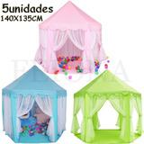 5 Casa Castillo Carpa Juego Infantil Princesa Plegable Niños