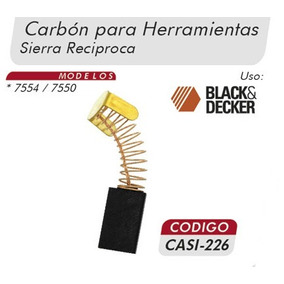 Carbones Sierra Reciproca 7554-0 Black&decker Casi 226