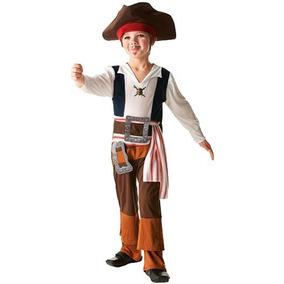 Jack Sparrow Fantasia Infantil Original Piratas Do Caribe
