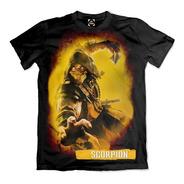 Camiseta Mortal Kombat 11 Scorpions Camisa Ref 0032