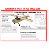 Plano Piper Cub Aeromodelo Entrenador