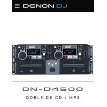 Reproductor Doble De Cd Profesional Denon Dnd4500 X Jgo