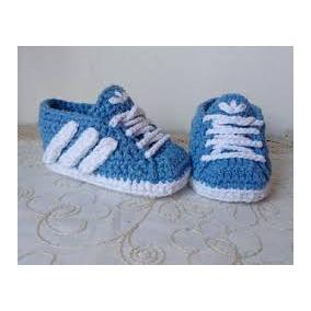 Zapatos Tejidos A Crochet Tipo Tenis Para Bebes Adid