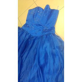 Vestido 15 Años Azul Francia Excelentisima Calidad