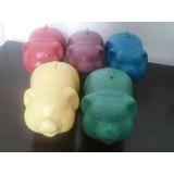 Kit 10 Cofrinho Porquinho Coloridos De Plástico Médio