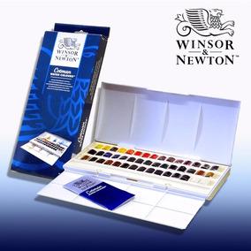 Aquarela Winsor & Newton 45 Cores Watercolor Cotman