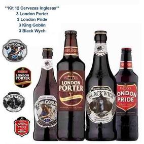 Kit 12 Cerveza London Porter + London Pride + King Goblin