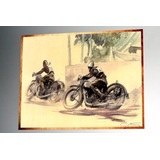 Placa Decorativa 38x27cm * Motos Race .in Art