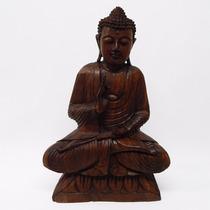 Buda Madera De Teka 50cm - Indonesia, Oriental, Hindú