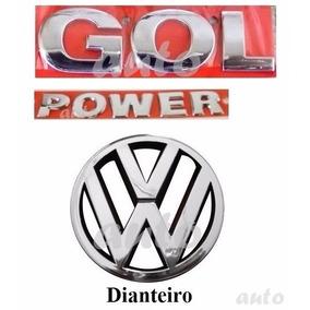 Emblemas Gol Power + Vw Grade - G4 Geração 4