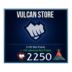 2250 Rps Riot Points Rp League Of Legends Lol Las Latam Sur