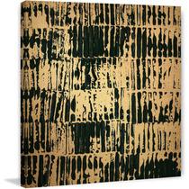 Dark Dimension Painting Print On Gold Metallic Canvas