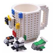 Caneca Lego 3d + Brinde Lego, Várias Cores Azul Geek Nerd