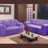 Capa Para Sofa 3e2 Lugares Com 28 Elastico #12