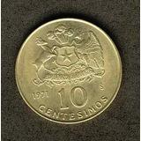 Moneda 10 Centesimos Año 1971