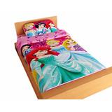 Juego De Sabanas Para Cama Disney Princesas Rosada 100 X 190