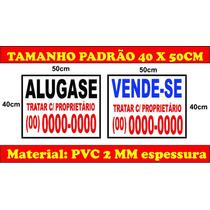 Placa Ps Vende-se / Aluga-se 50x40cm