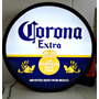 Luminoso Decorativo Cerveja Corona Com Led E Fonte 37cm