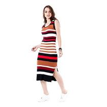 Vestido Listrado Feminino Desmond - Color