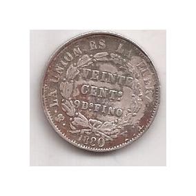 Bolivia Antigua Moneda De Plata 20 Centavos Año 1880 4.6 Grs