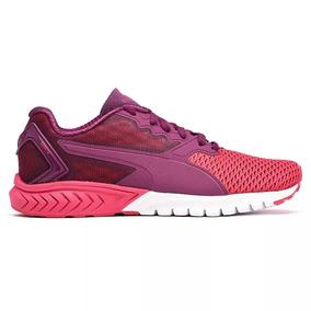 Puma Zapatilla Running Mujer Ignite Dual Mesh Purpura/rosa