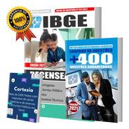 Kit Apostila Ibge - Recenseador + Caderno De Questões