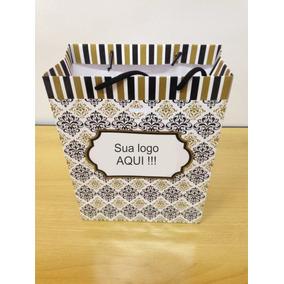 100 Sacolas Personalizadas Em Papel Offset 180 Branco1