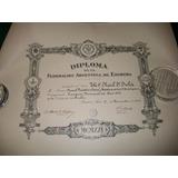 Federacion Argentina De Esgrima . Diploma 1926 .