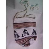Bolso Guajiro Pequeño Tejido Nylon Artesanía Indígena Wayuu