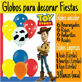 Globos Para Decoracion Fiestas Toy Story Woody