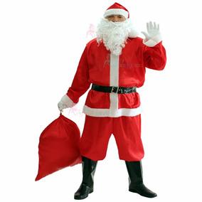 Roupa De Papai Noel Com Blusão Calça Cinto Gorro Sino Xgg G2