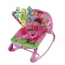 Cadeira De Balanço Musical Vibra Rocker Rosa - Color Baby
